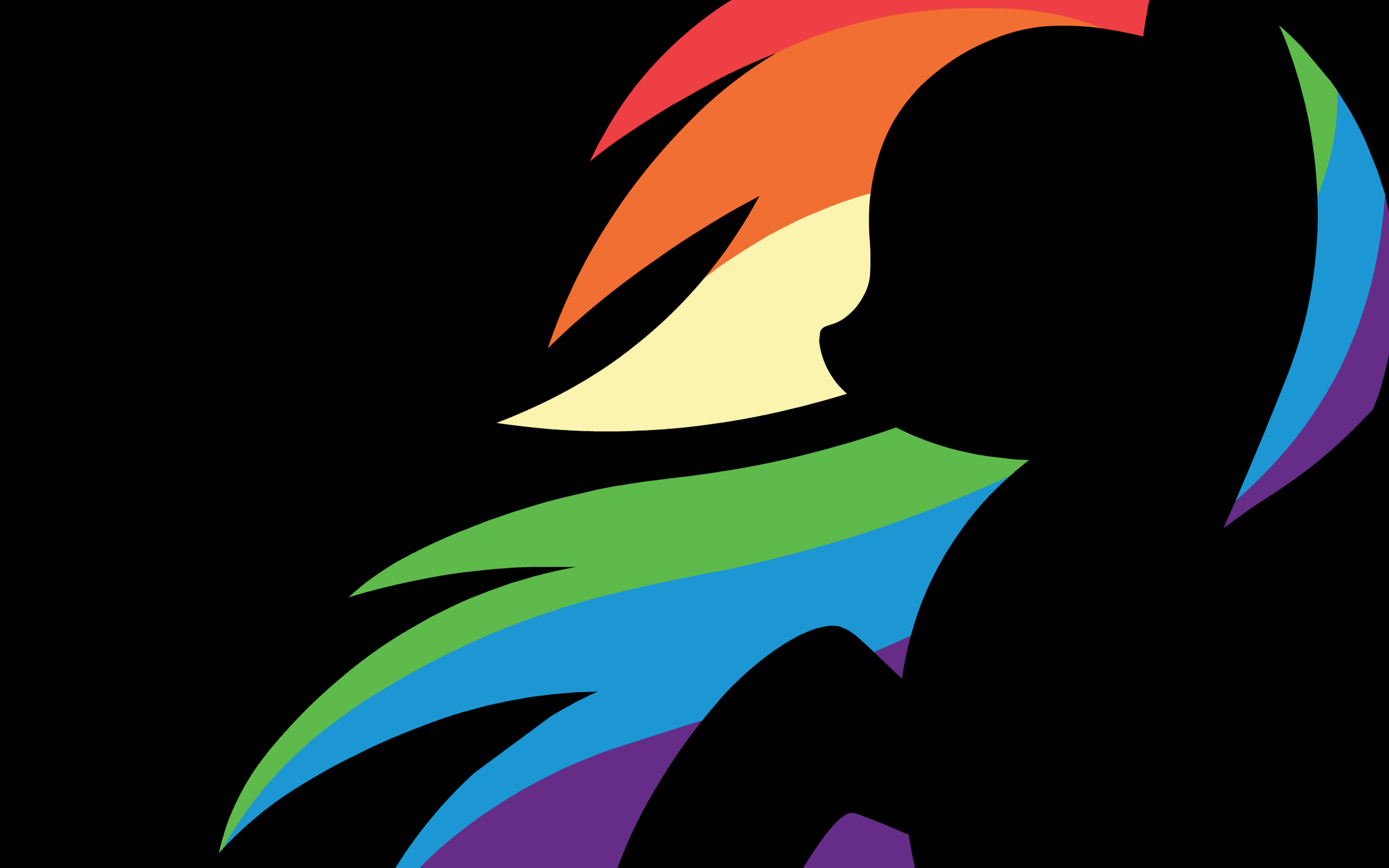 My Little Pony Rainbow Dash Minimalism Wallpapers Hd Desktop