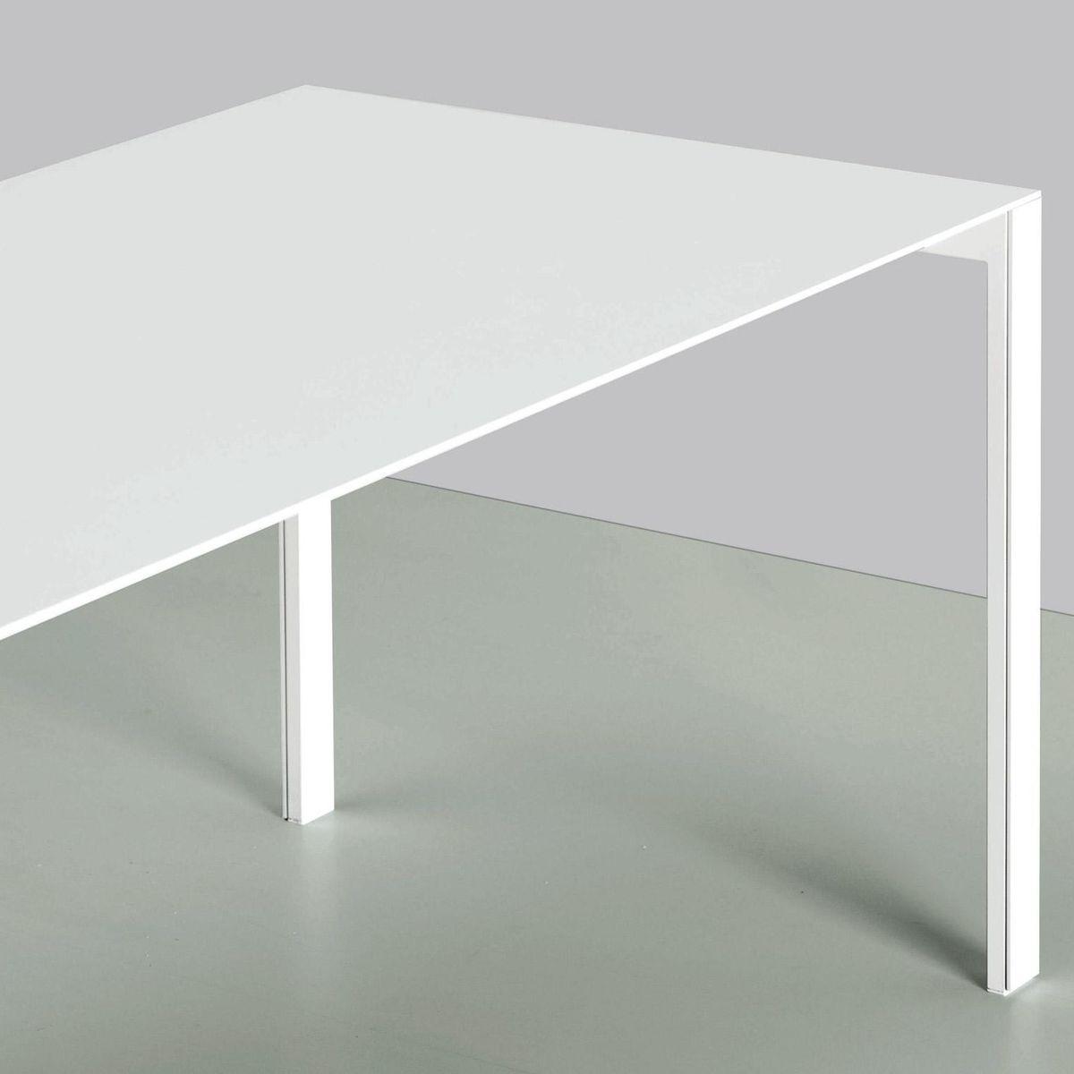 Kristalia   Thin K Aluminium Tisch Ausziehbar   Weiß/Gestell Weiß X Auf