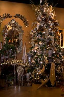 An All Gold Or Silver Tree Is Elegant. Here Pewter Is Used To Give A