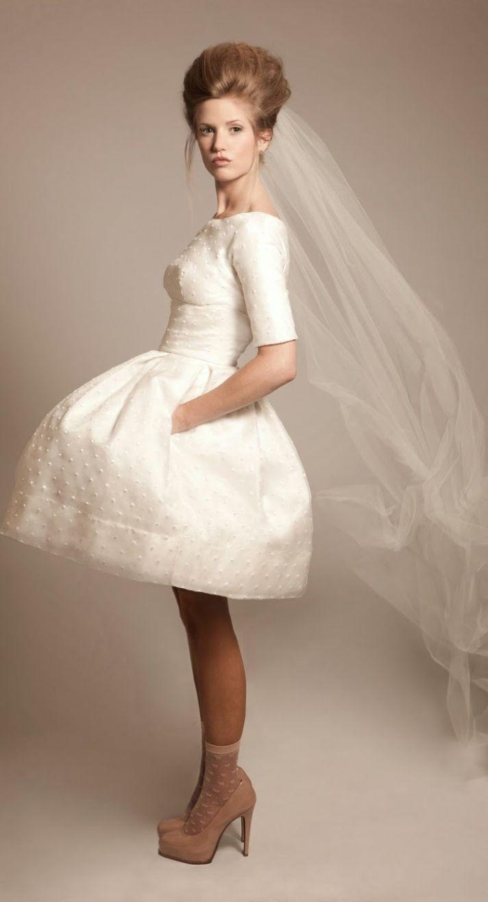Bride Chic S Trend Watch Beautiful Dots Short Wedding Dress Cute Dresses 2015 Wedding Dresses