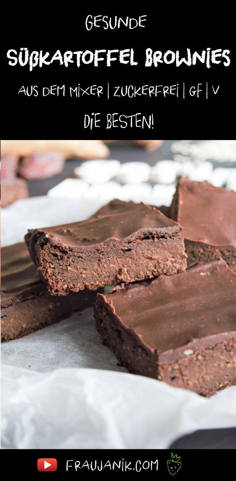 gesunde Brownies Süßkartoffel vegan #schokokuchen