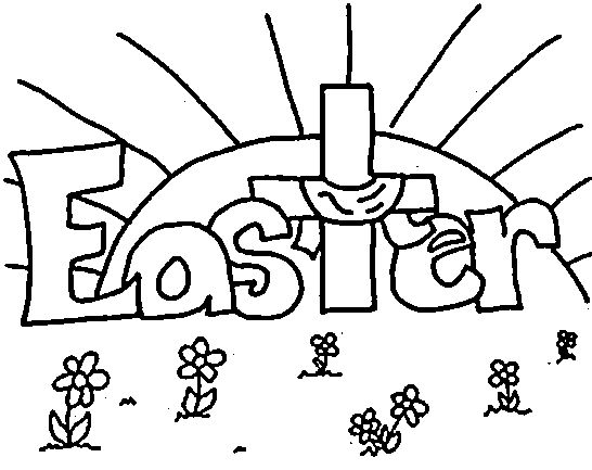 Easter Coloring Sheets Religious