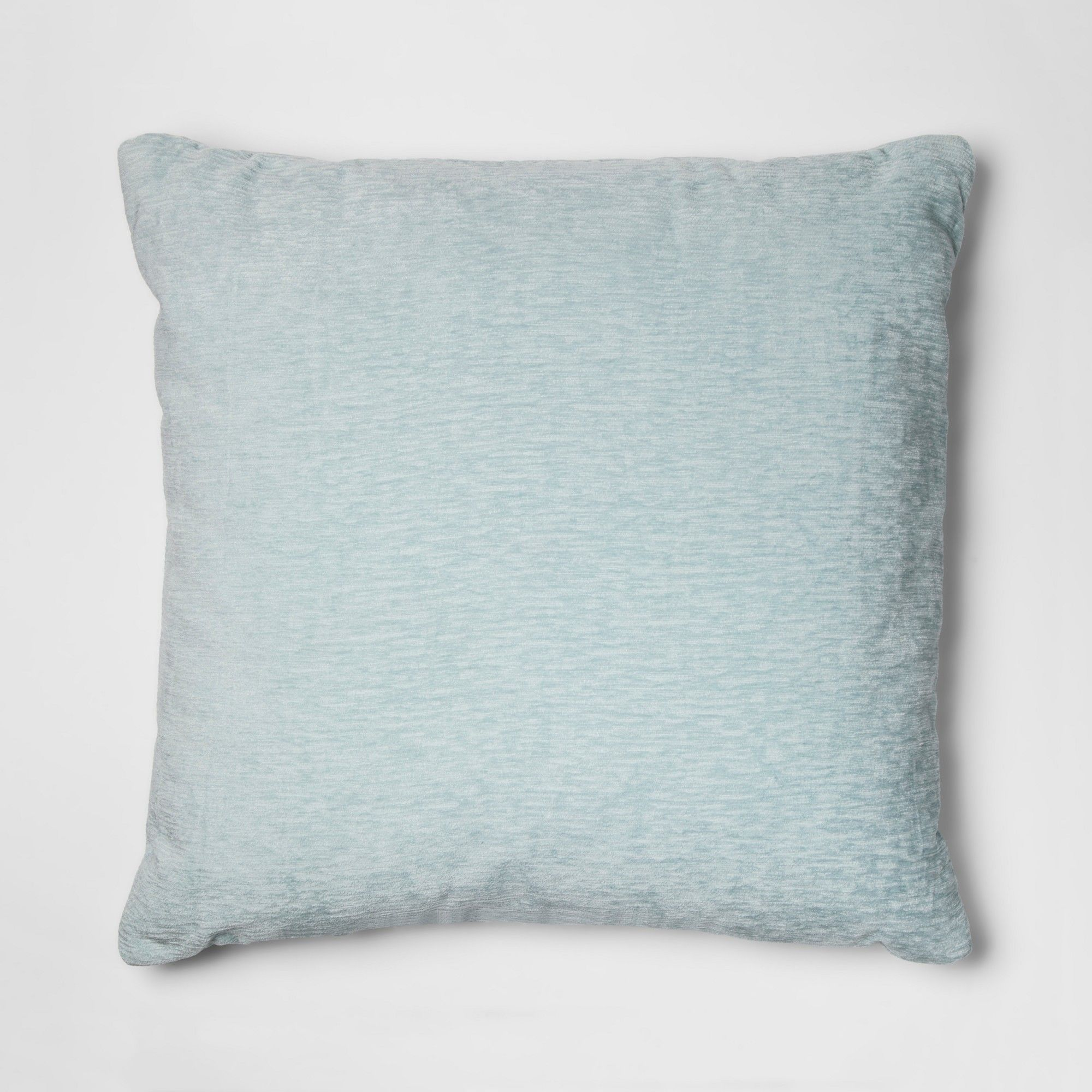 Blue Chenille Oversize Square Throw Pillow Threshold