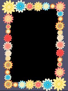 libres digitales scrapbooking cuadros de flores - Marco colorido de la flor png - Blumenrahmen png - Freebies | MeinLilaPark - freebies digitales