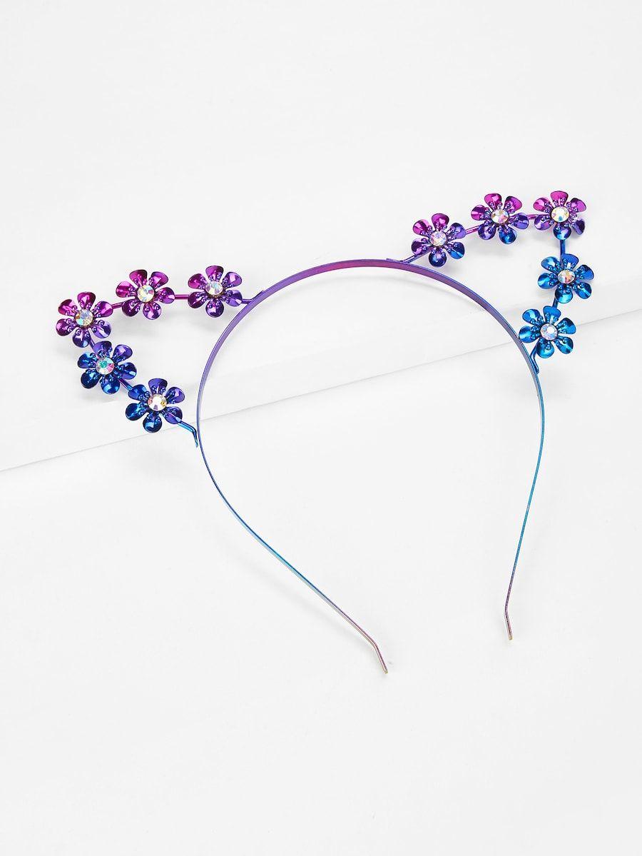 flower detail headband with cat ear -shein(sheinside)   wish