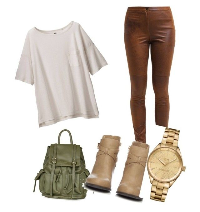 """""""the style of life"""" by amyahrose ❤ liked on Polyvore featuring Uniqlo, Topshop, Wallis and Lacoste"""