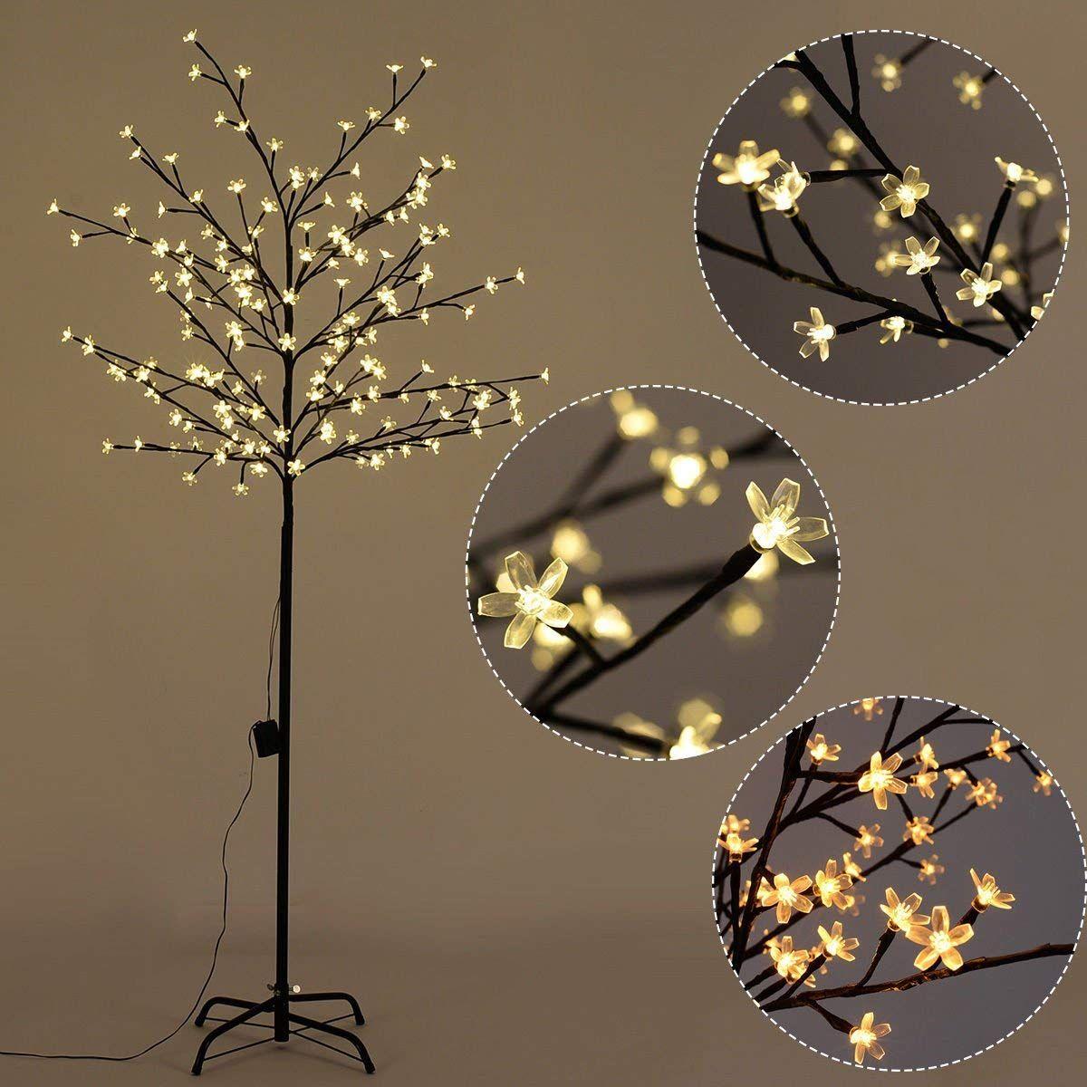 Furinho Bush 6ft 160led Christmas Xmas Cherry Blossom Led Tree Light Floor Lamp Holiday Decor Wa Led Christmas Tree Lights Cherry Blossom Light Tree Led Tree