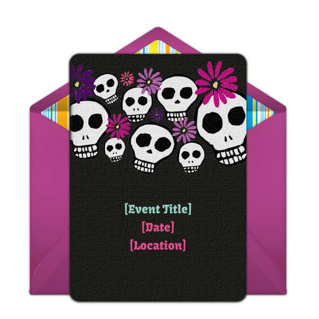 Free Dia De Los Muertos Invitations Free Party Invitations Party Invite Template Free Birthday Invitations