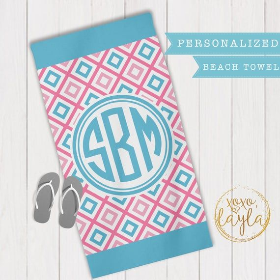 Beach Towel Beach Towels Towels Personalized Beach Towels For