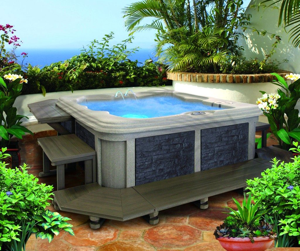 Landscaping Ideas Small Yard Hot Tub | The Garden ...