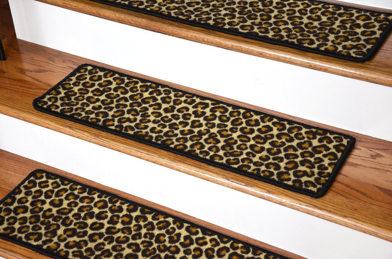 Best Dean Premium Carpet Stair Treads Leopard 30 X 9 Dean 400 x 300