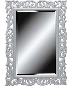 home of style rococco mirror white from. Black Bedroom Furniture Sets. Home Design Ideas
