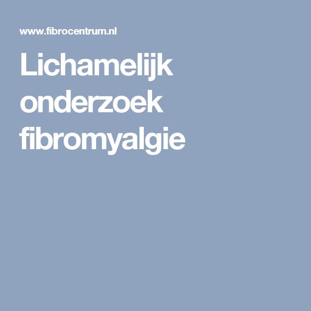 Lichamelijk onderzoek fibromyalgie