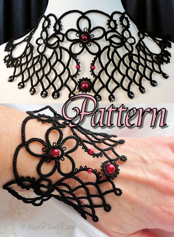 Tatting Pattern Necklace and Bracelet \