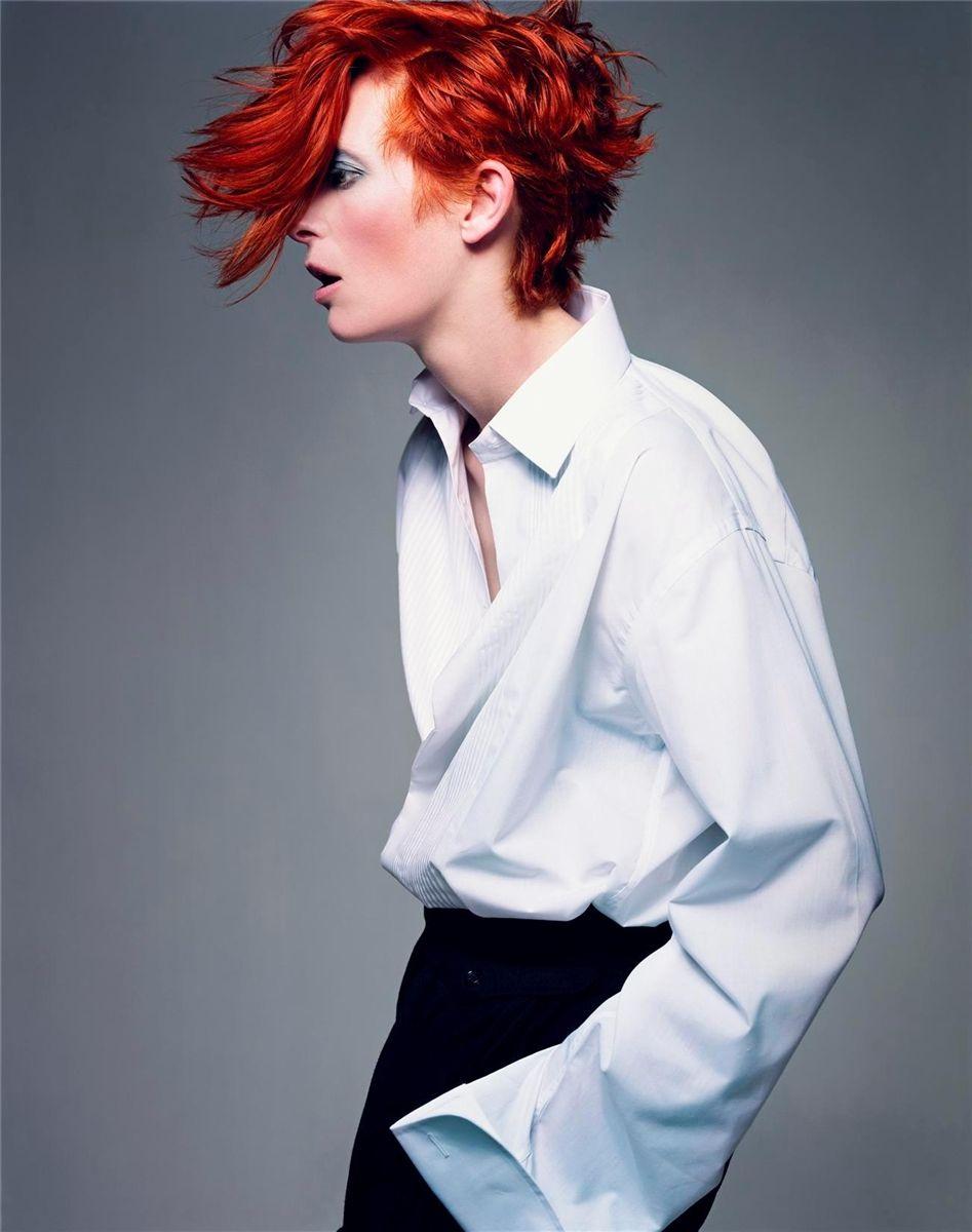 Tilda as Bowie ~ Tilda Swinton by Craig McDean for Vogue Italia February 2003.