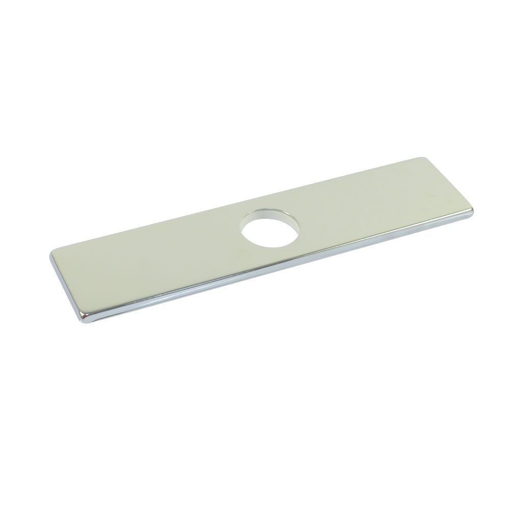 10 Inch 25 4cm Square Sus304 Stainless Steel Kitchen Sink Faucet Hole Cover Deck Plate Escutcheon Chrome