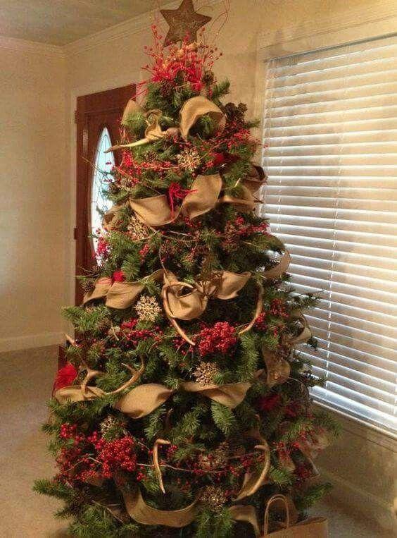 Antler Christmas Tree, Western Christmas Tree, Christmas Tree Decorations  Ribbon, Christmas Tree Garland - Pin By Kendall Hart On Christmas Decorations Christmas, Christmas