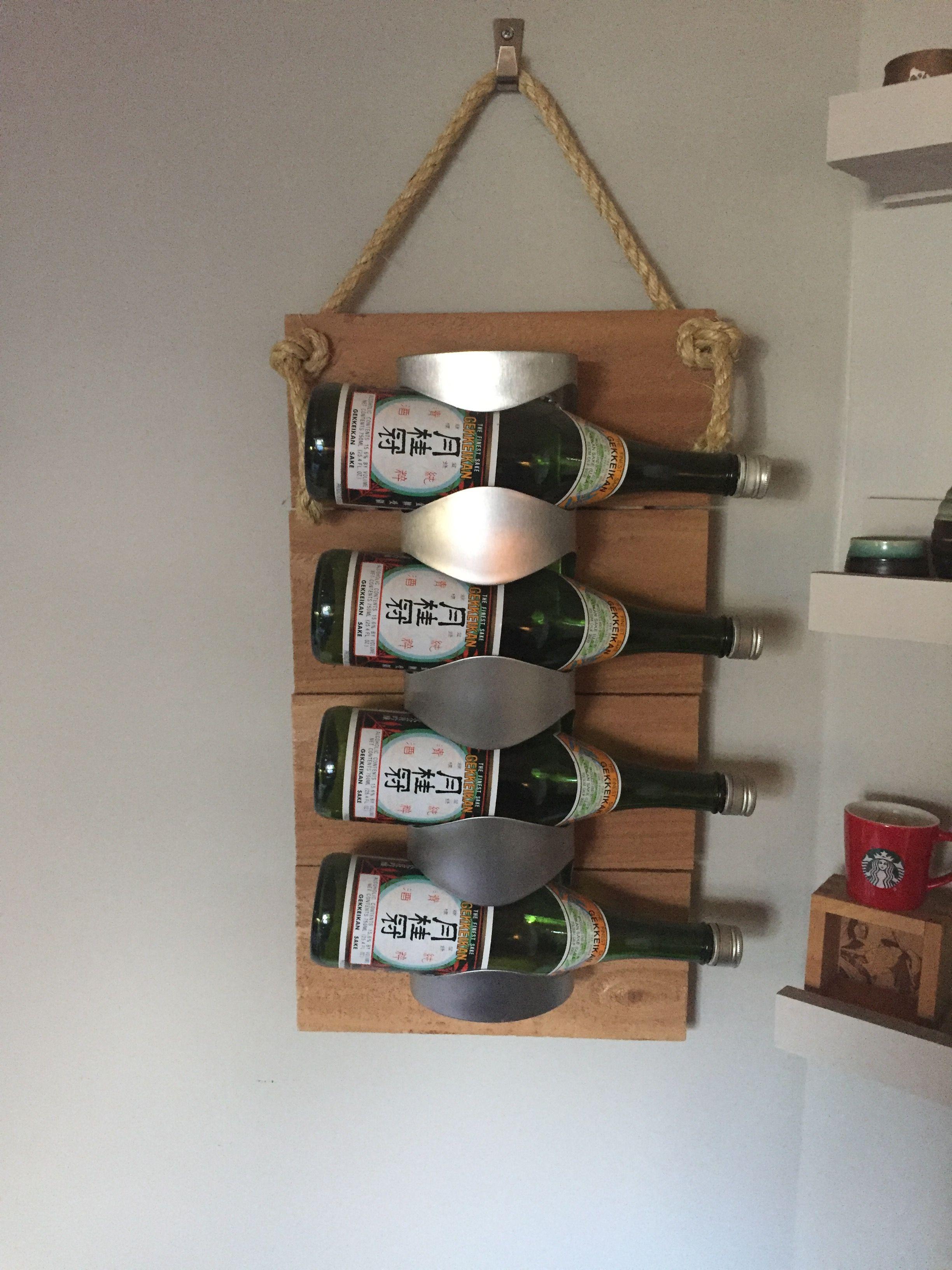 Ikea Vurm Wine Rack Attached To Cedar Planks Ikea Wine Rack