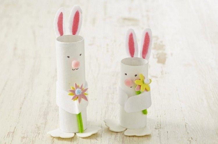 Osterhasen basteln aus Papier – 17 einfache Ideen für Kinder ...