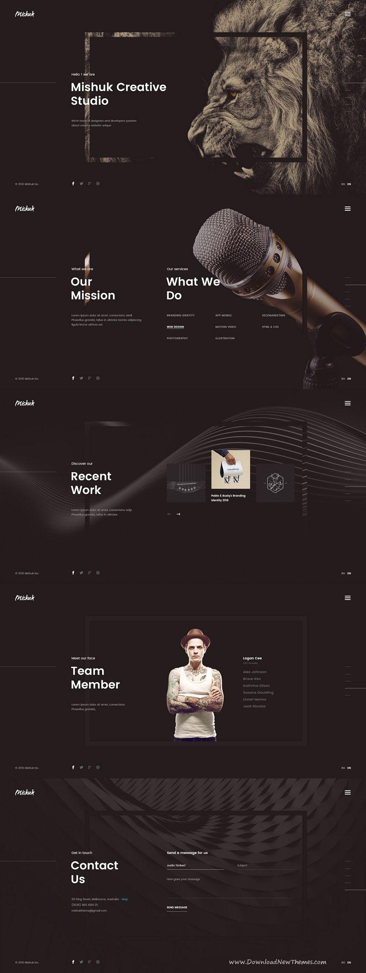 Mishuk - Creative PSD Template   Psd templates, Creative design and ...