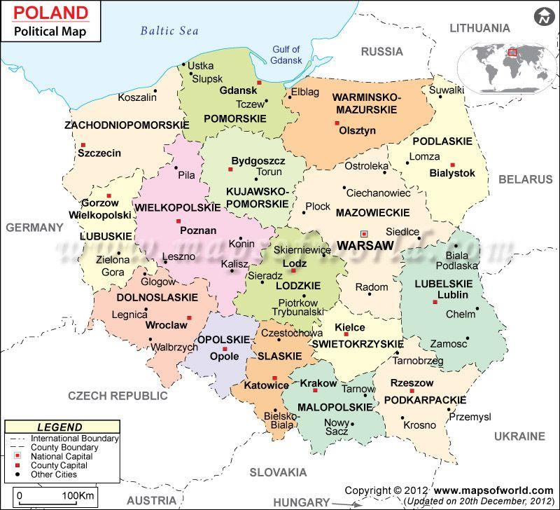 Polen Bundesländer