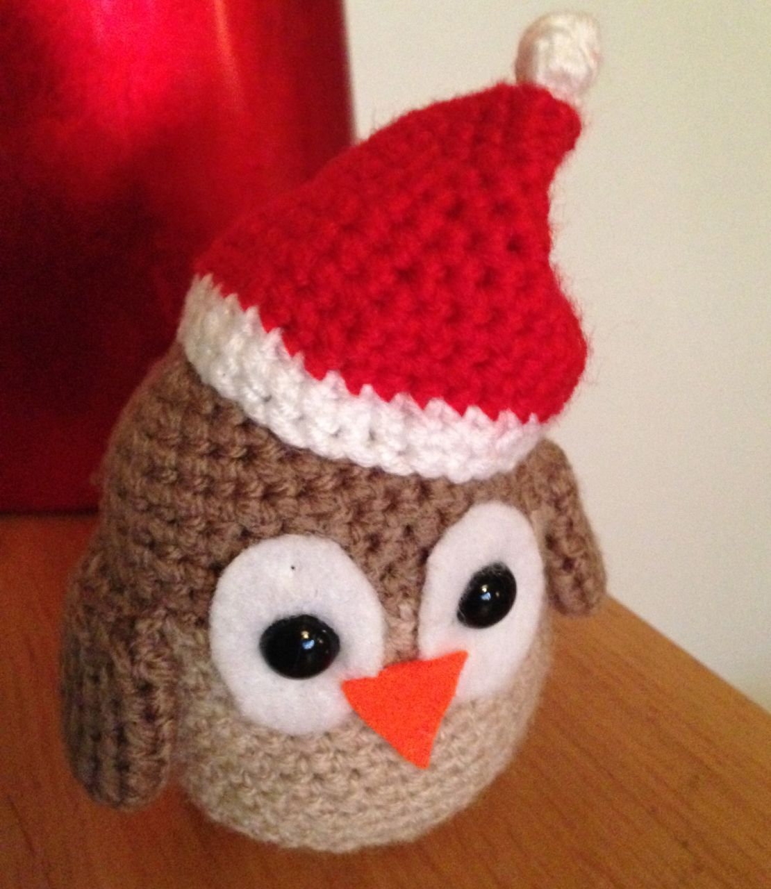 Crocheted Christmas Owl