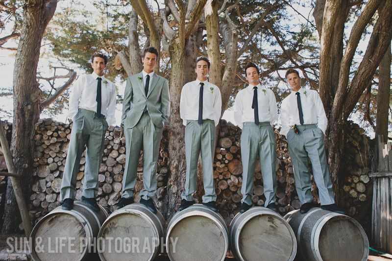 With 7 will need grooms men to share barrels.
