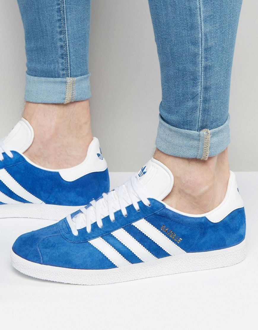 the latest 78533 db046 ADIDAS ORIGINALS GAZELLE SNEAKERS IN BLUE S76227 - BLUE. adidasoriginals  shoes