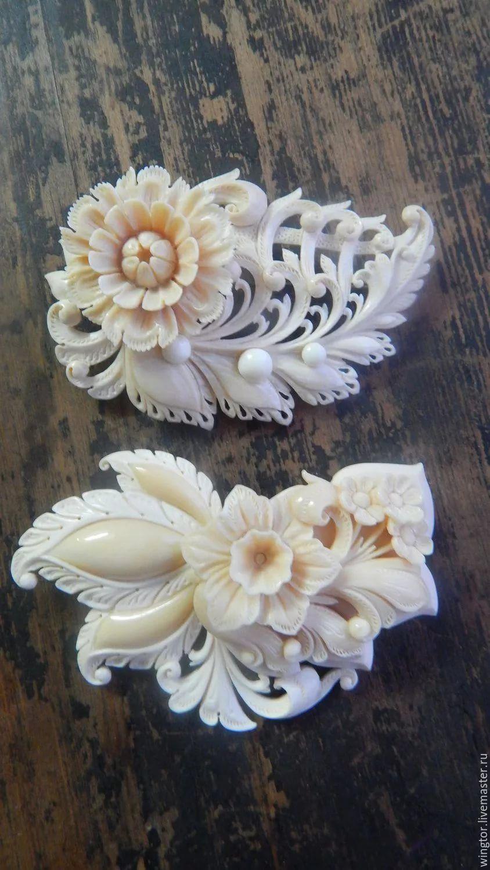 украшения из полимерной глины имитация резьбы по кости тыс