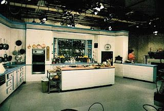 Julia S Set On Her Early Cooking Show Tv In Kitchen Stools For Kitchen Island Eclectic Kitchen