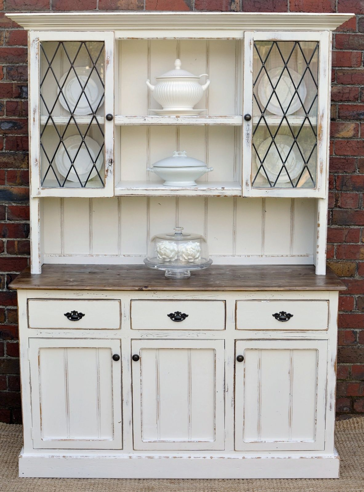 Country Farmhouse French Provincial Buffet AND Hutch