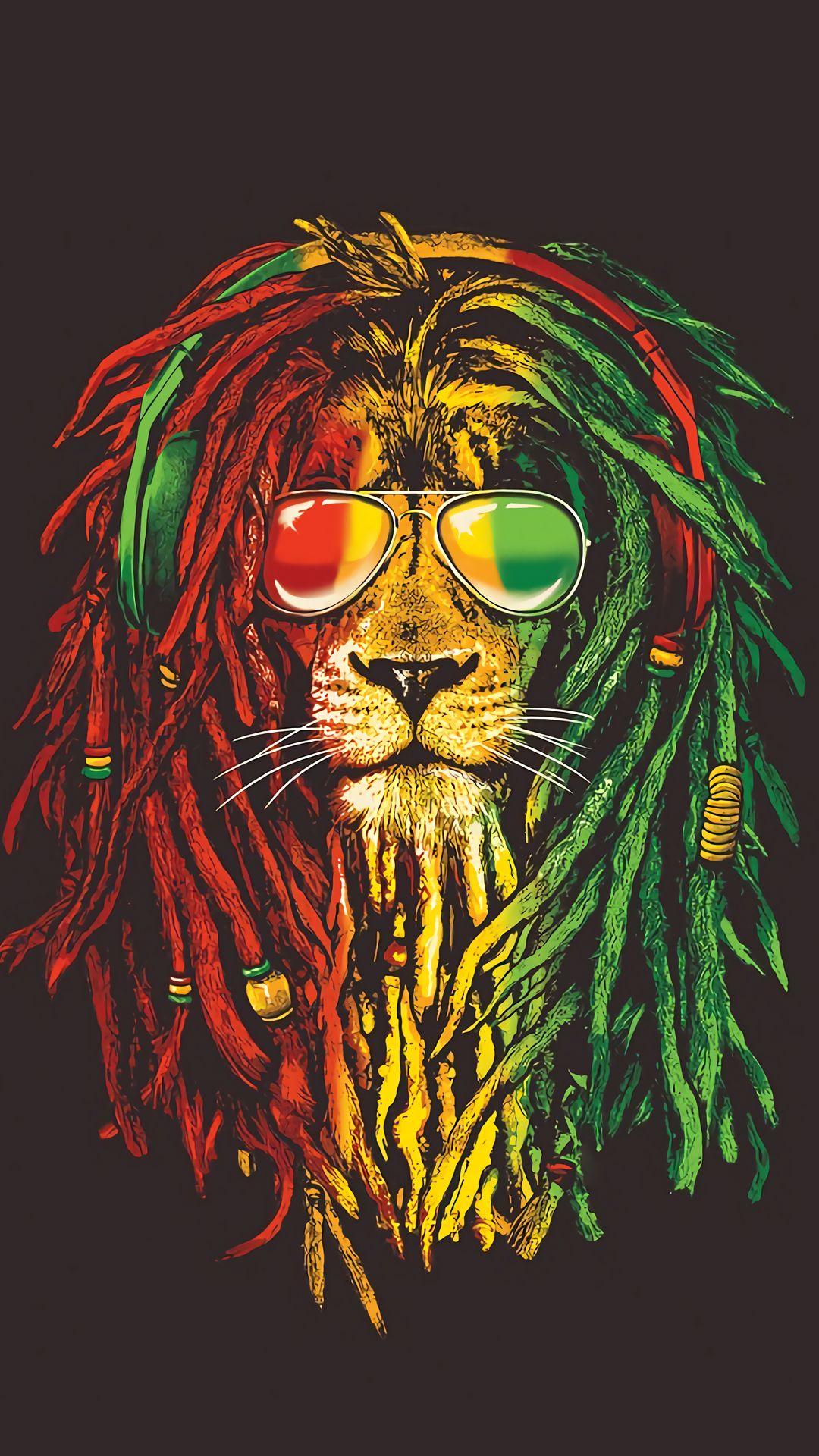 Colors Reggae Art Bob Marley Art Rasta Art
