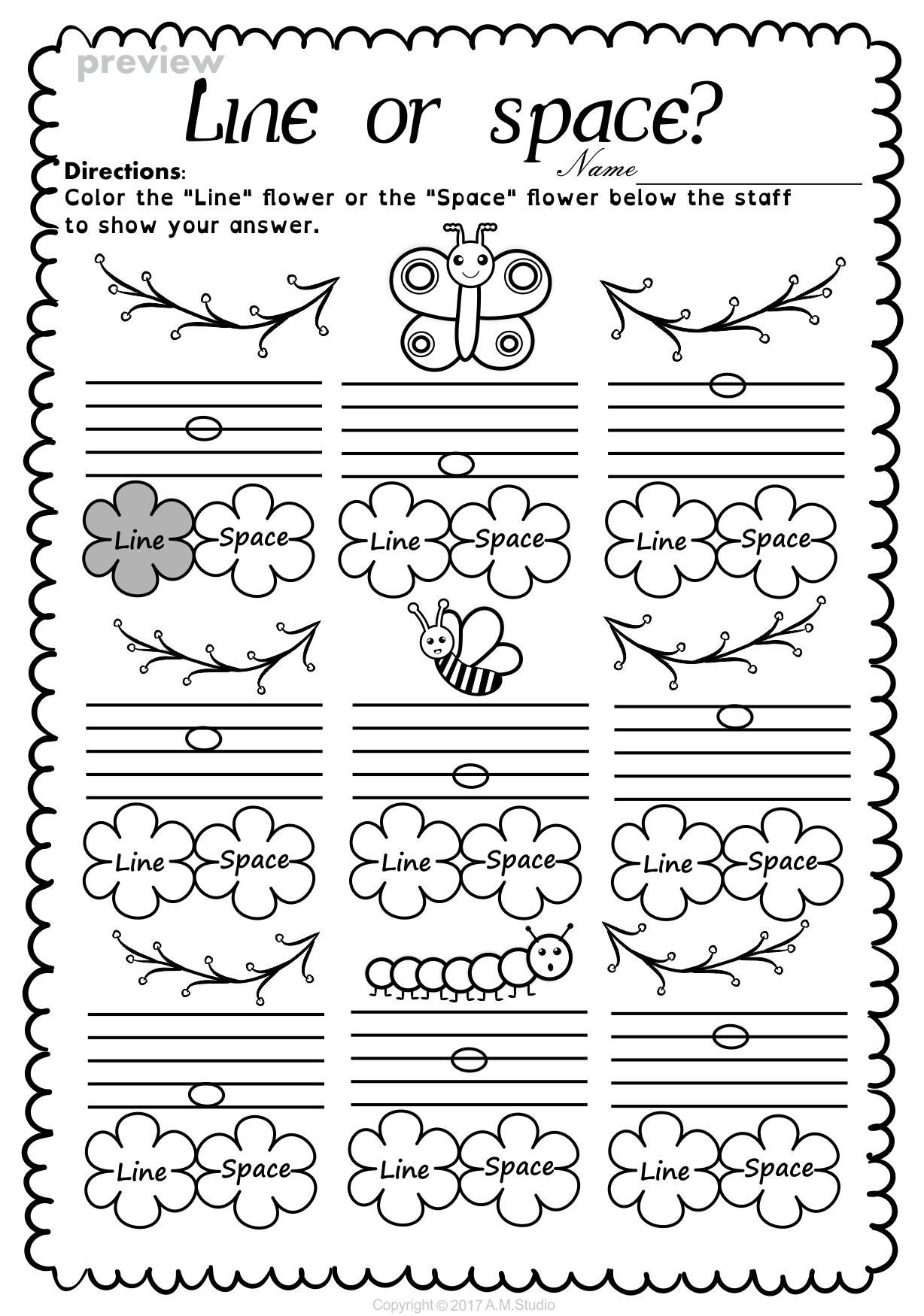 Lines And Spaces Spring Worksheet Pack Anastasiya Multimedia Studio Music Worksheets Teaching Music Notes Elementary Music Worksheets [ 1750 x 1228 Pixel ]