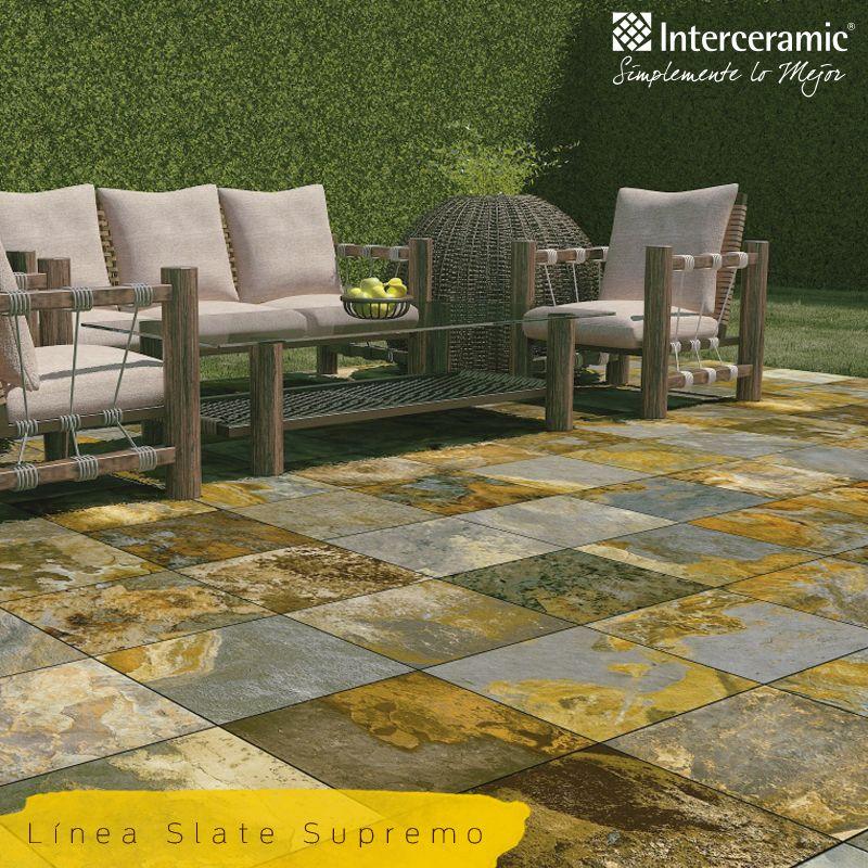 Interceramic slate supremo patios pinterest azulejos interceramic and terrazas - Azulejos de terraza ...