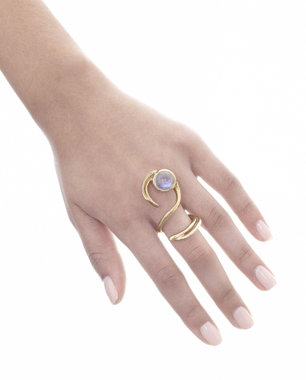 Moon Curve ring by Mary Zayman | Bianca Lopez Studio Artist | Pinterest