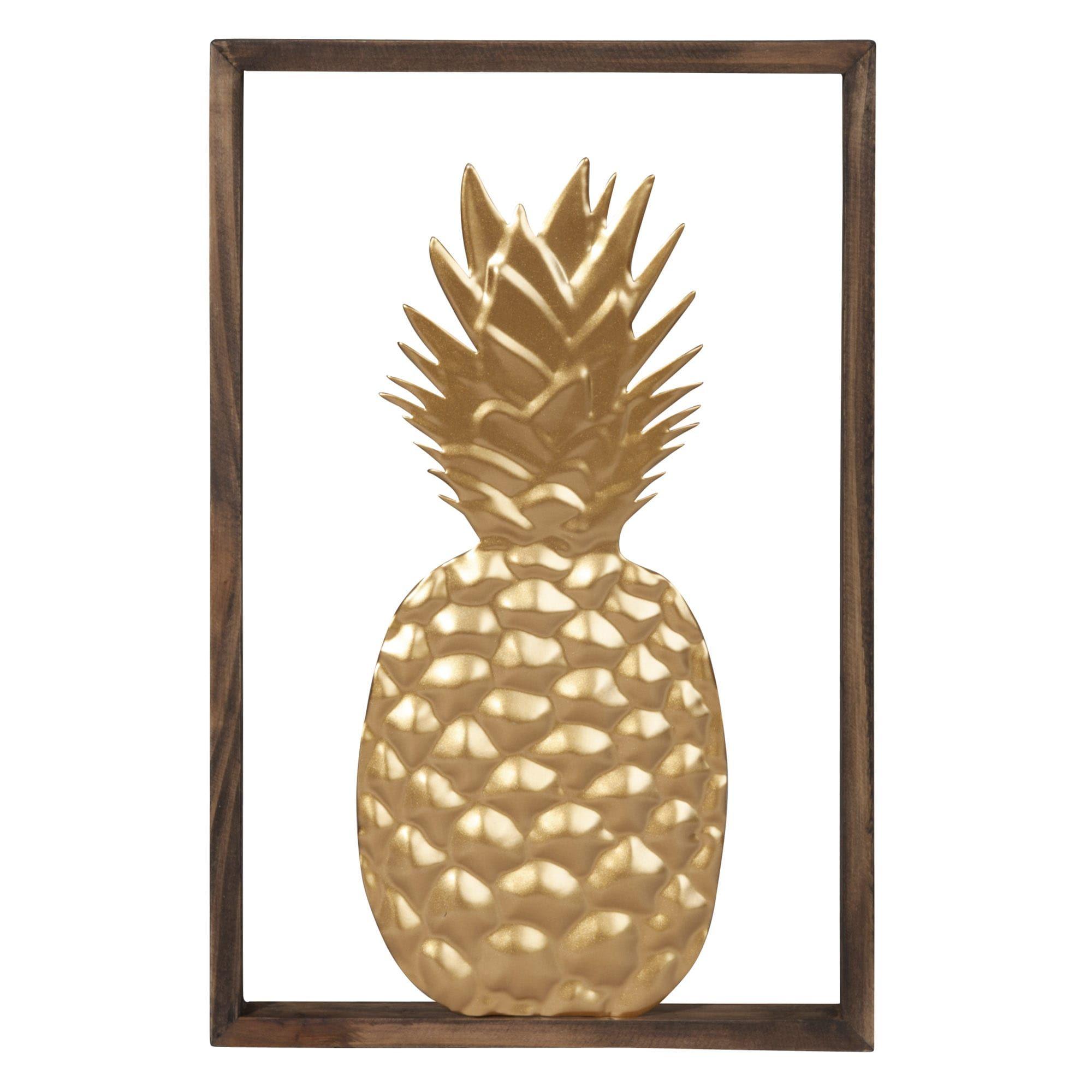 Bild Ananas Aus Metall Goldfarben 20 X 30 Jetzt Bestellen Unter: Https://