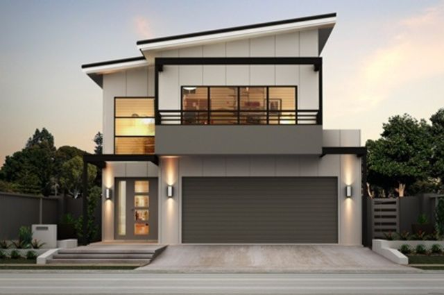 Doppelgarage modern pultdach  Modern 2 Storey House Designs | Modern Houses | Pinterest | Häuser ...
