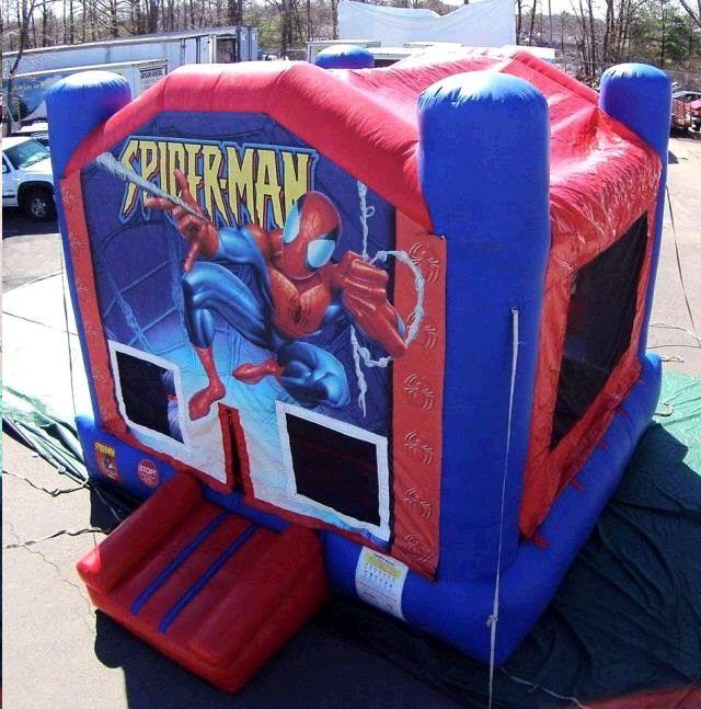 Bounce Spiderman Rental info@taylorrentalpartyplusct.com