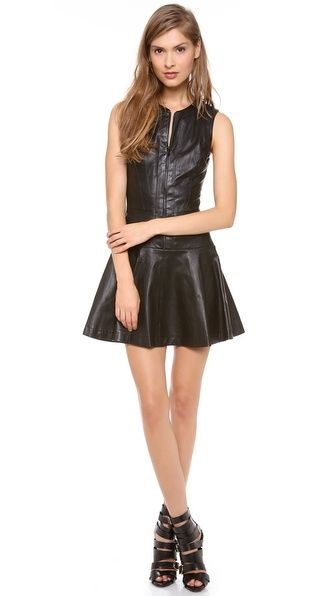 Robert Rodriguez Stretch Leather Dress - $1,195