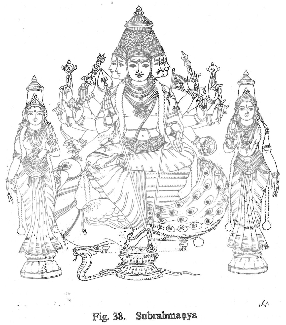 Hindu gods pencil coloring pages for Hindu gods coloring pages