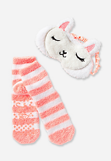Llama Eye Mask & Socks Set | Pajama Party! | Llama pajamas