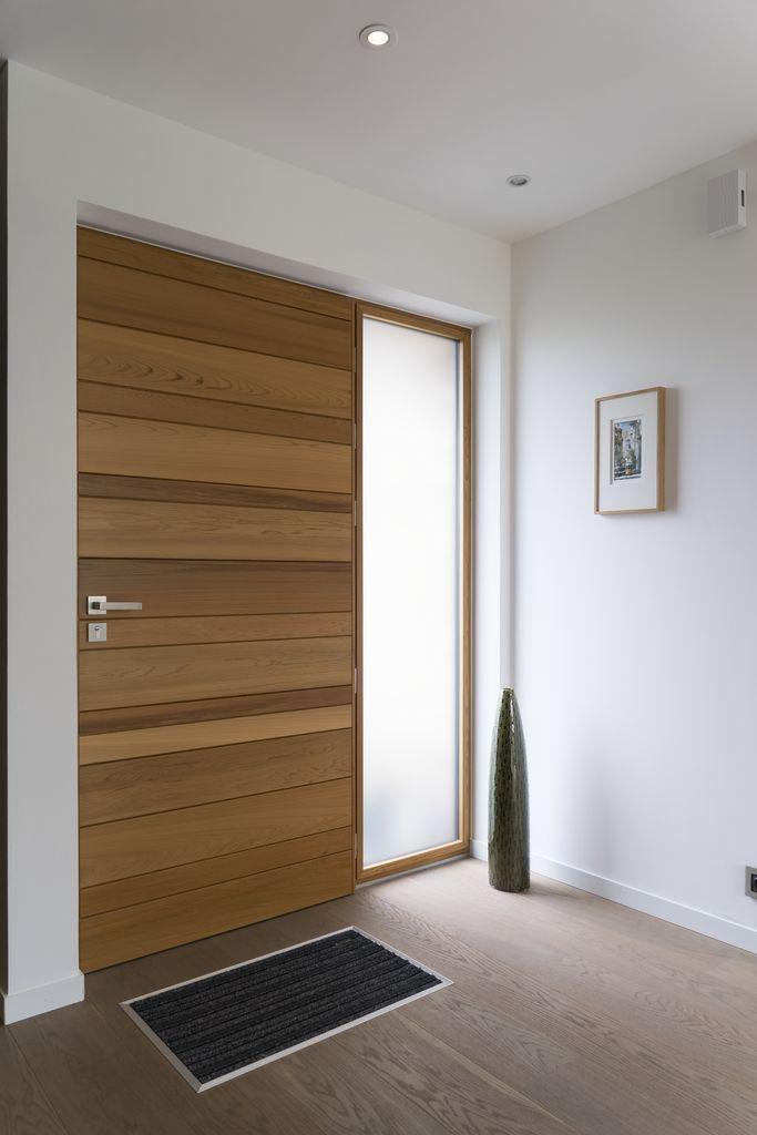 Porte du0027entrée en bois red cedar Nativ 2 de Zilten, vue intérieure - dimensions porte d entree