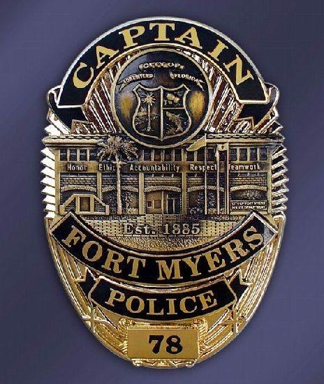 Fort Myers Pd Fl Police Badge Police Badge
