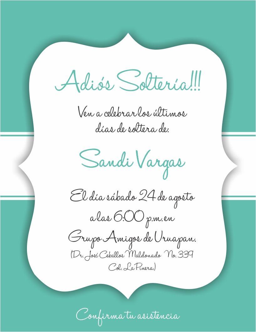 Invitación Despedida De Soltera Invitacion Despedida De