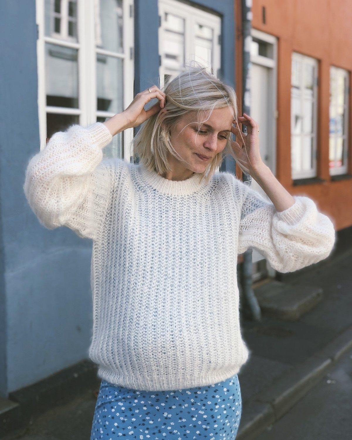 Photo of September Sweater – strikkeopskrift fra PetiteKnit
