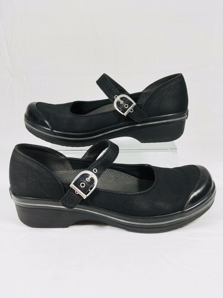 9275bc0ee Dansko Valerie Vegan Fabric Mary Janes Flats Comfort Sz 41 / 10.5 -11 Black  EUC | eBay