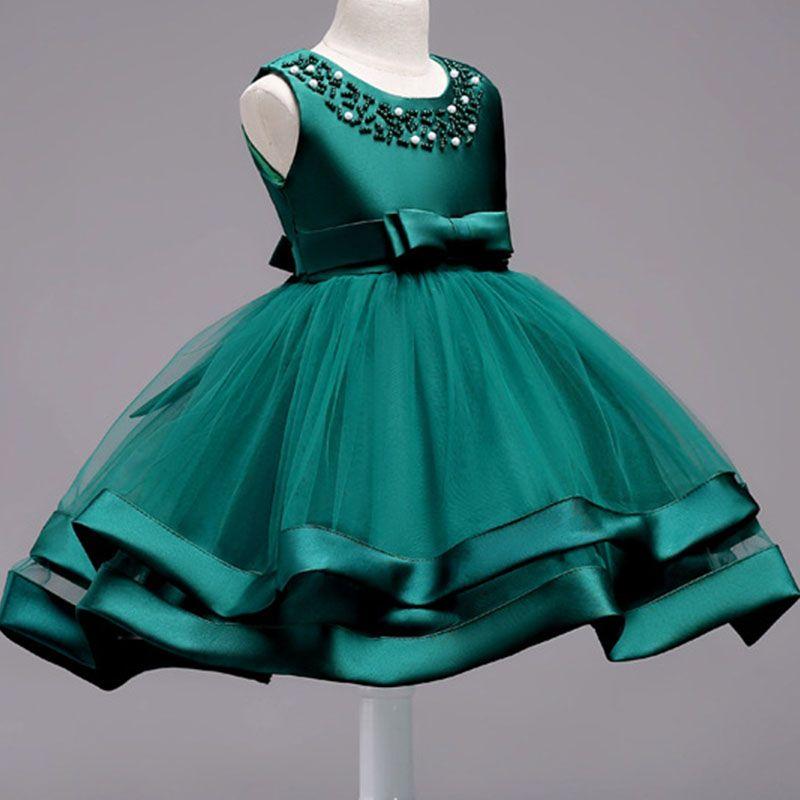 af743f90f Summer Kids Infant Girl Flower Petals Dress Children Bridesmaid ...