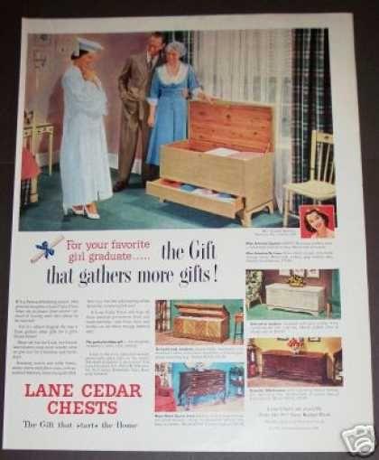 Original Lane Cedar Chest Ad Graduate (1951)