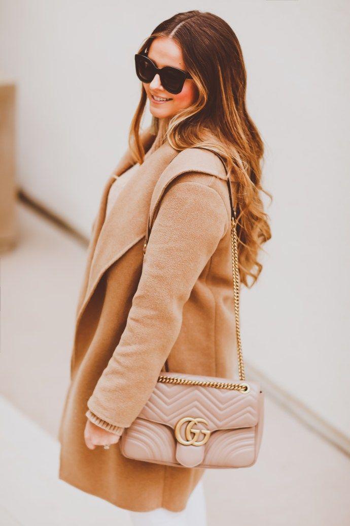 #OOTD // Monochrome Camel Coat & Winter White Skinny Jeans | BondGirlGlam.com