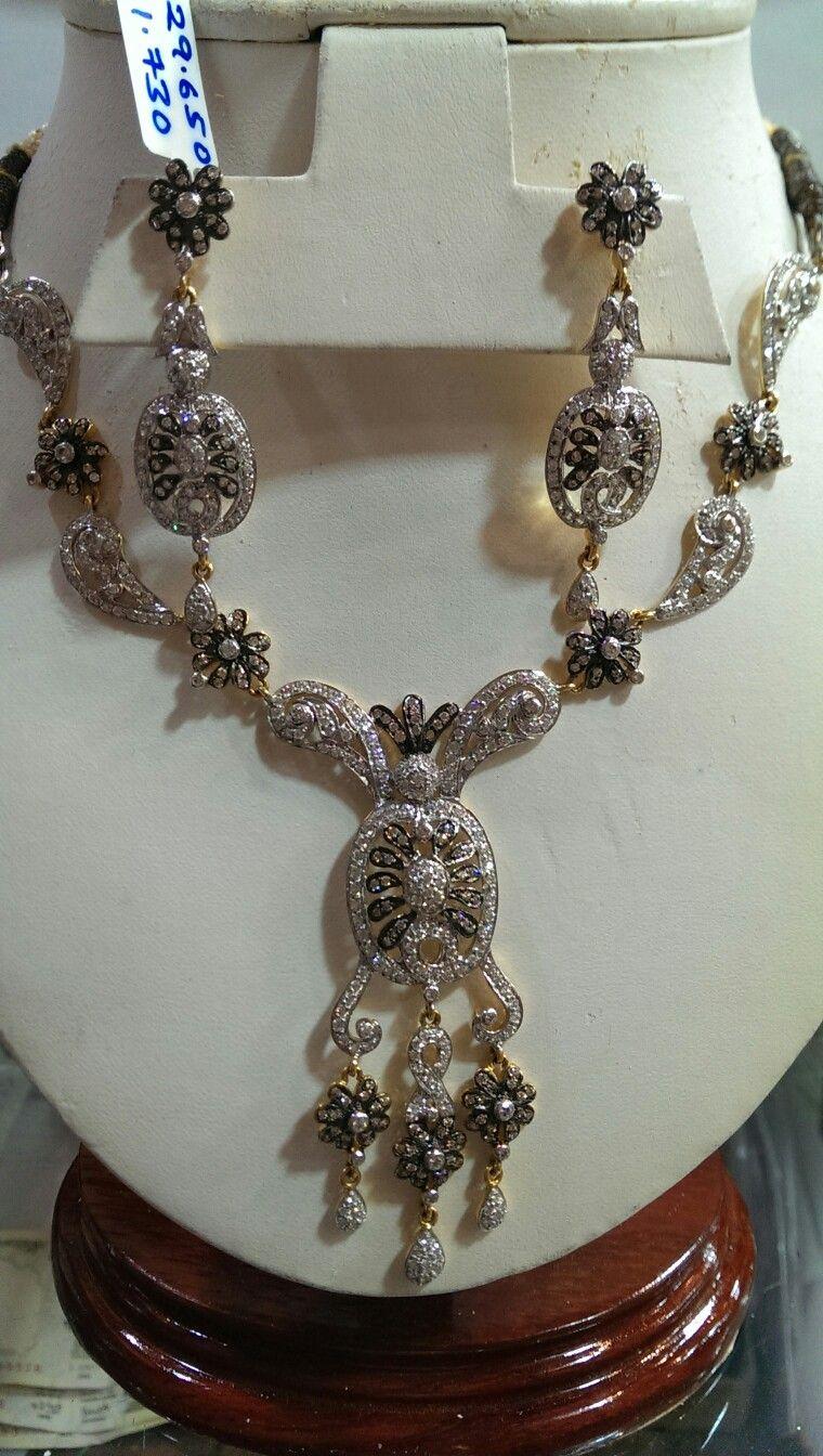 Cz necklace set offer on gold ornaments pinterest gold